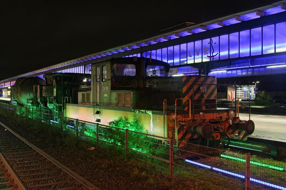 Die Lichtinstallation – Museumsbahnsteig Oberhausen II