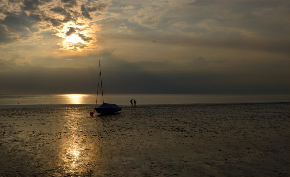 Die Lichtstimmung am Wattenmeer ...,