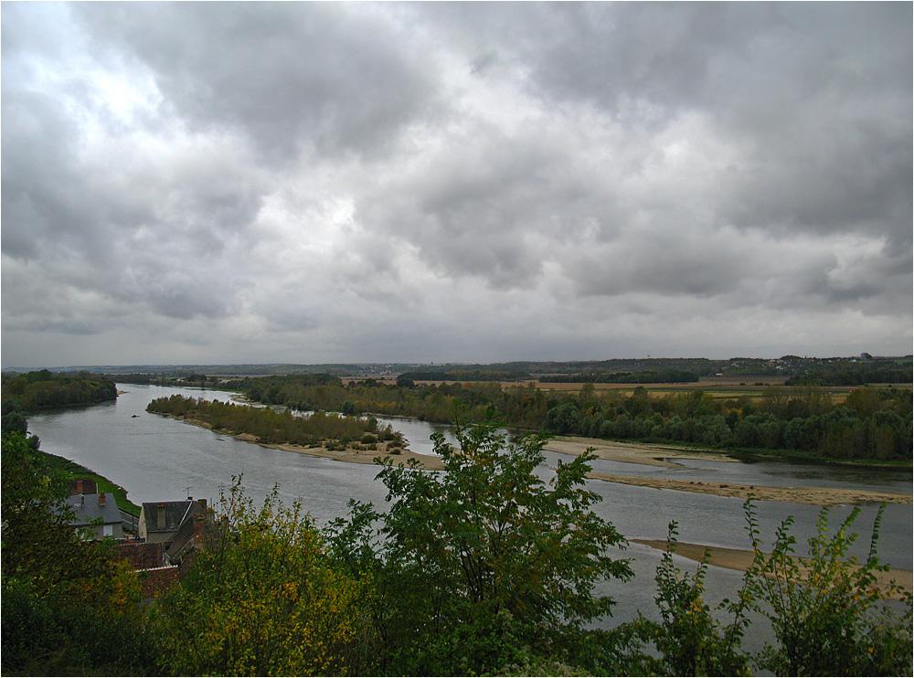 Die Loire beim Schloß Chaumont