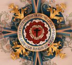 Die Lutherrose als Schlussstein im Sternengewölbe der Annenkirche
