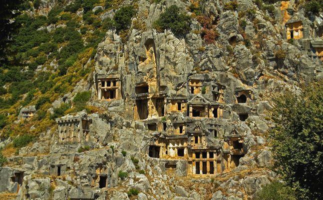 Die lykischen Felsengräber von Myra