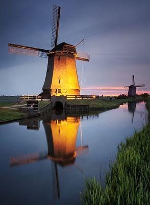 Die majestätische Windmühle