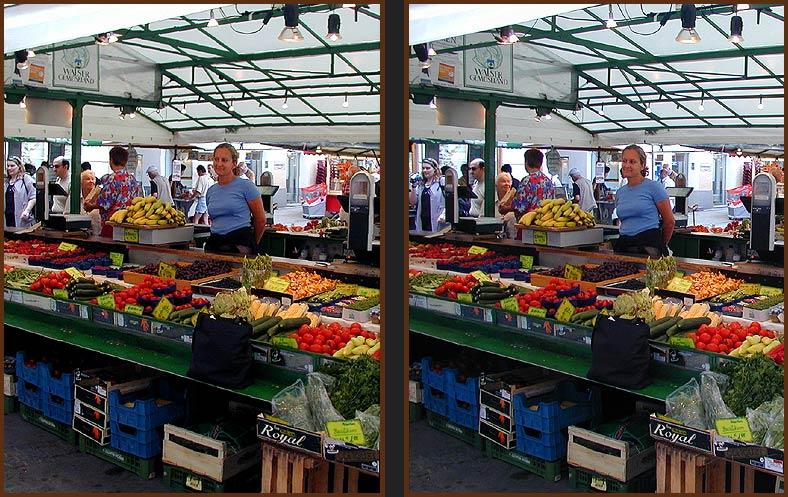 Die Marktfrau  II Parallelblick