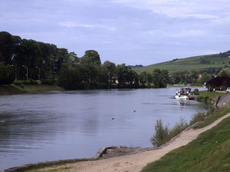 Die Marne in Château-Thierry