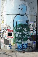 "Die Mauer - ""Once a human rights teacher was born in Bethlehem"""