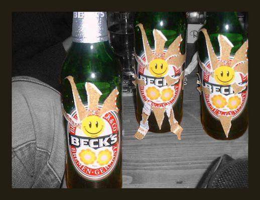 Die Metamorphose einer Bierflasche an nur einem Abend (Erstlingswerk)