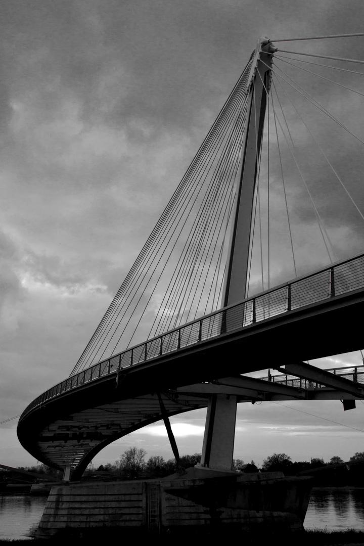 Die Mimram-Brücke in Kehl am Rhein (BW)