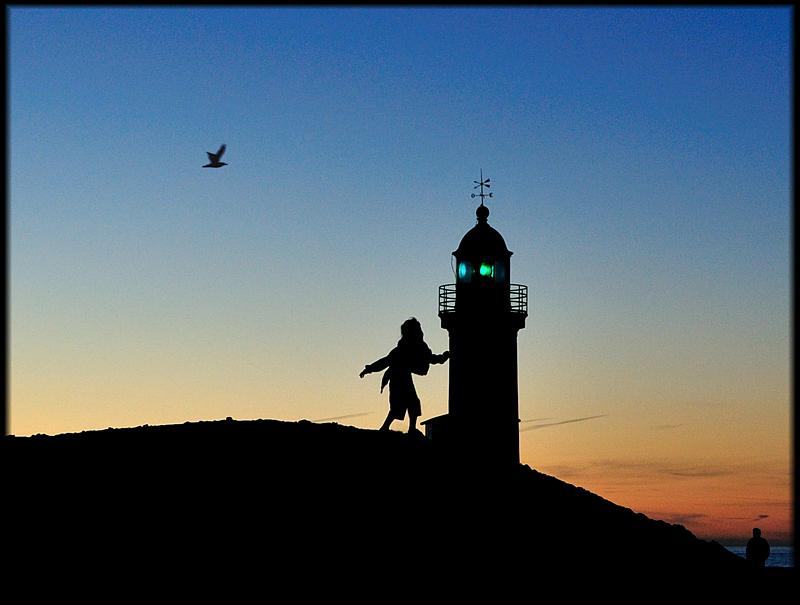 die mit dem Leuchtturm tanzt