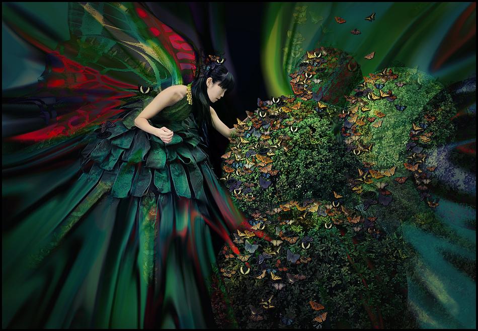 die mit den Schmetterlingen spricht