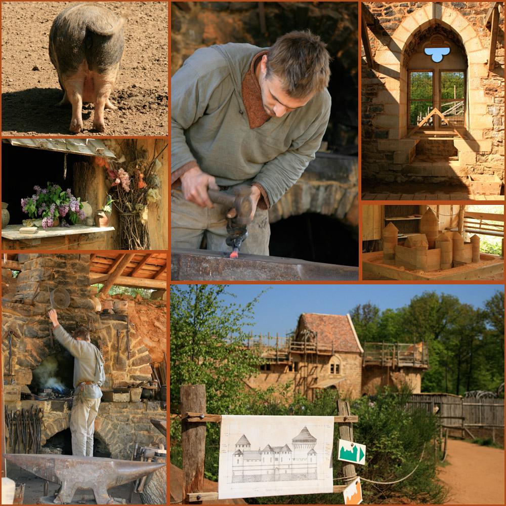 die mittelalterliche Baustelle: Guédelon