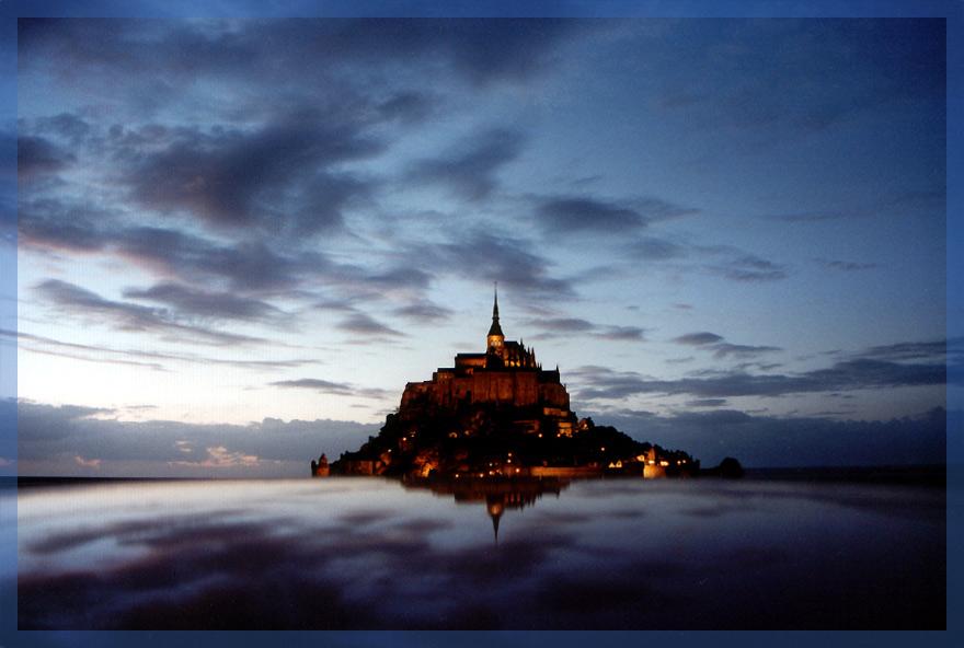 """""""Die Mittigkeit des Seins"""" oder: Abendstimmung am Mont-Saint-Michel"""