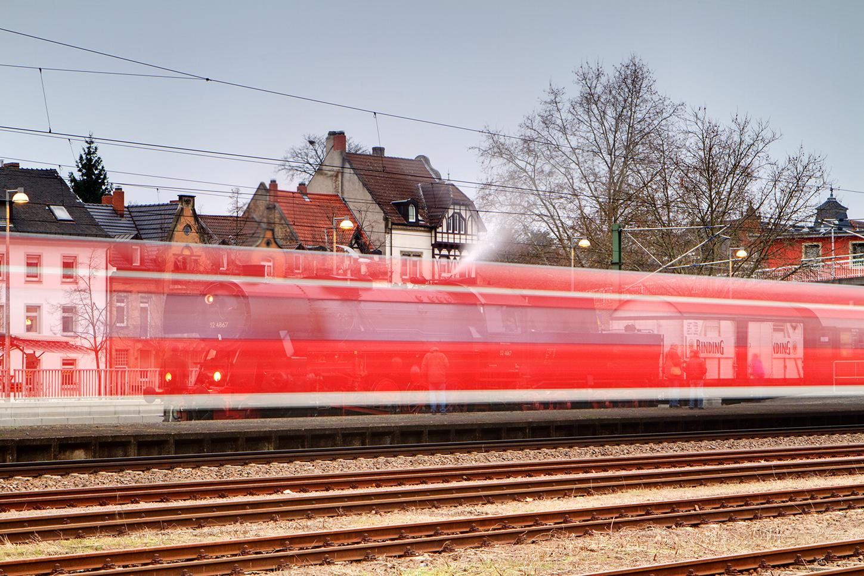 Die moderne Bahn hat vorfahrt