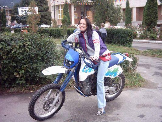 Die Moto Reiterin