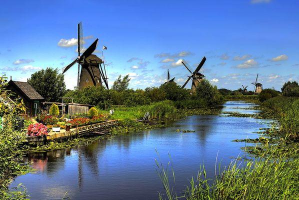 Die Mühlen von Kinderdijk Holland