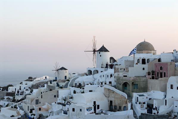 Die Mühlen von Oia / Santorini