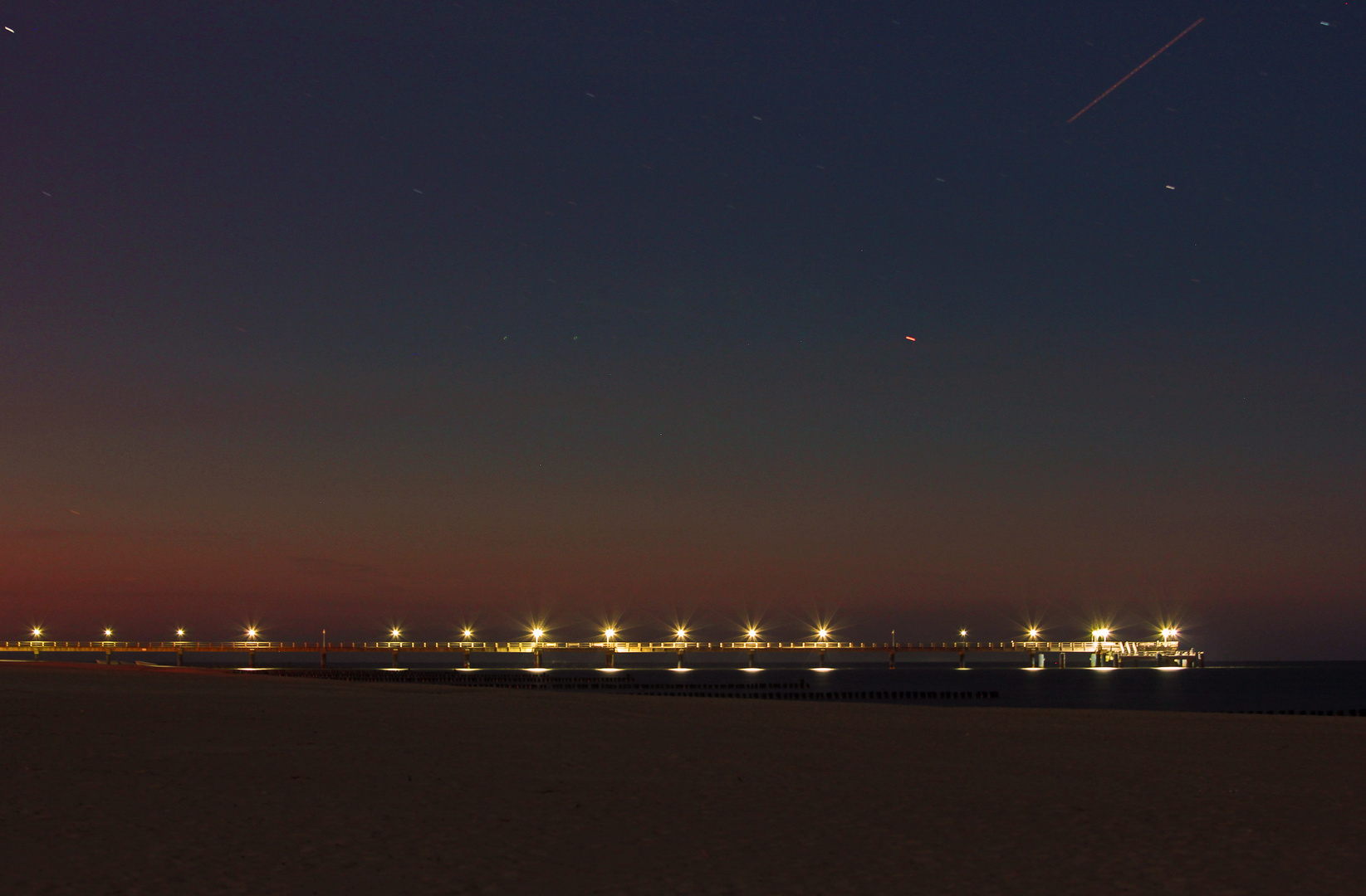 Die Nacht am Strand