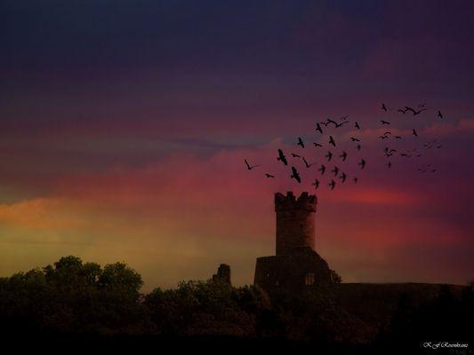 Die Nachtgeister fliehen vor der Sonne