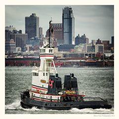 Die Navigator im Hafen von New York City