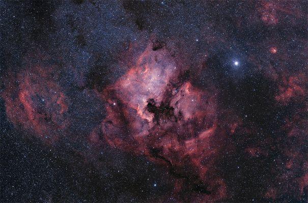 Die neblige Region um den Stern Deneb