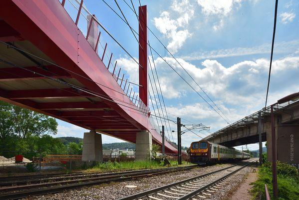 Die neue Brücke von Mersch