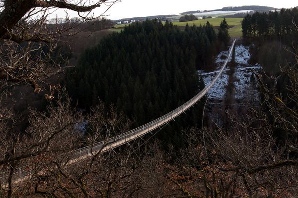 Die neue Hängebrücke im Hunsrück bei Mörsdorf