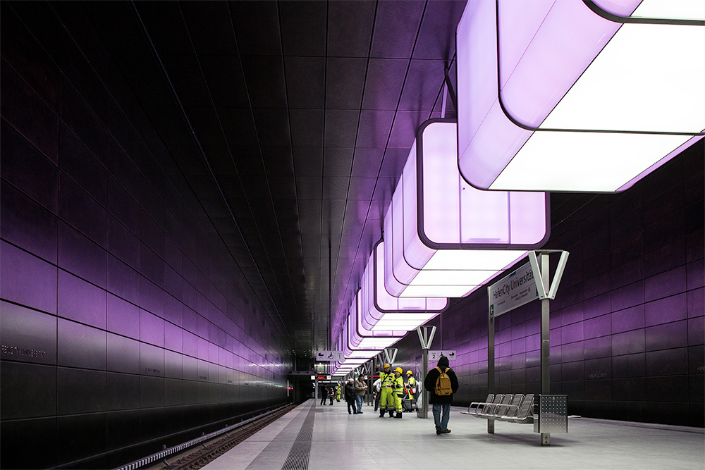 die neue U-Bahn Station