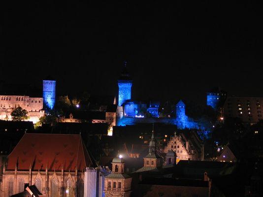 """Die Nürnberger Burg in der """"Blauen Nacht"""""""