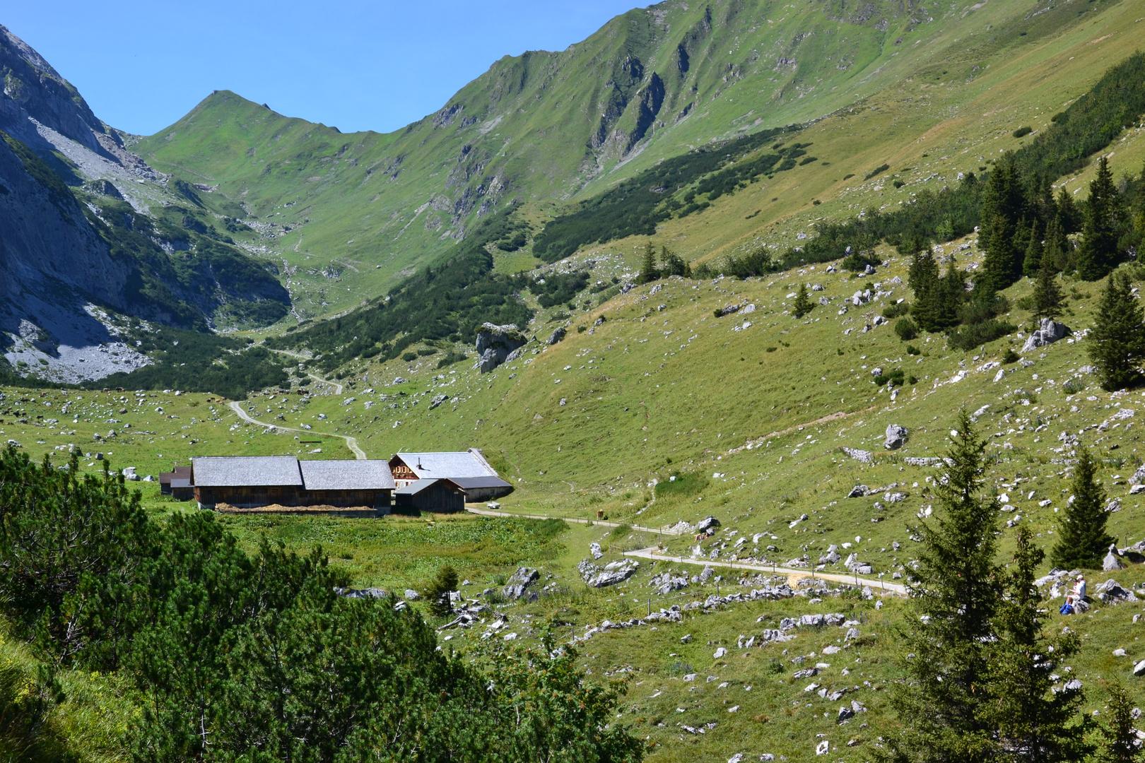 Die Obere Sporeralpe neben der Lindauer Hütte…