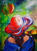 Die Obstpflückerin