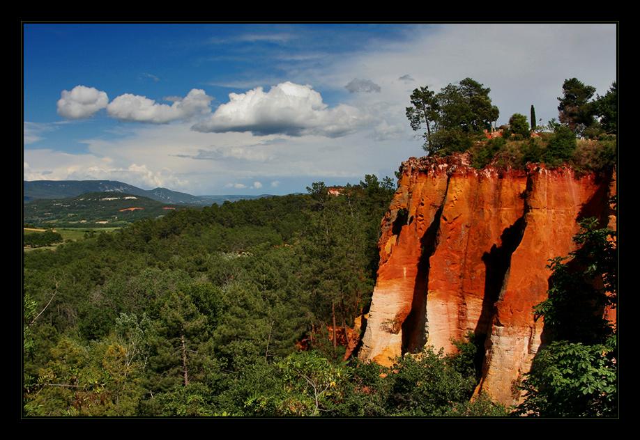 Die Ockerfelsen von Roussillon