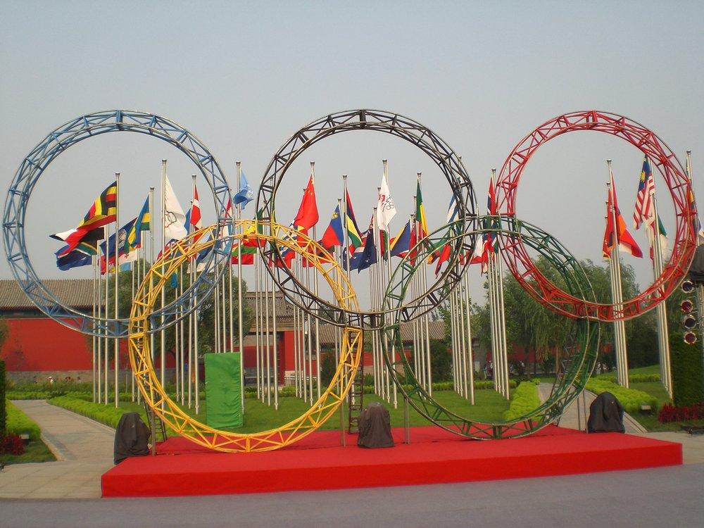 Die Olympischen Ringe ..