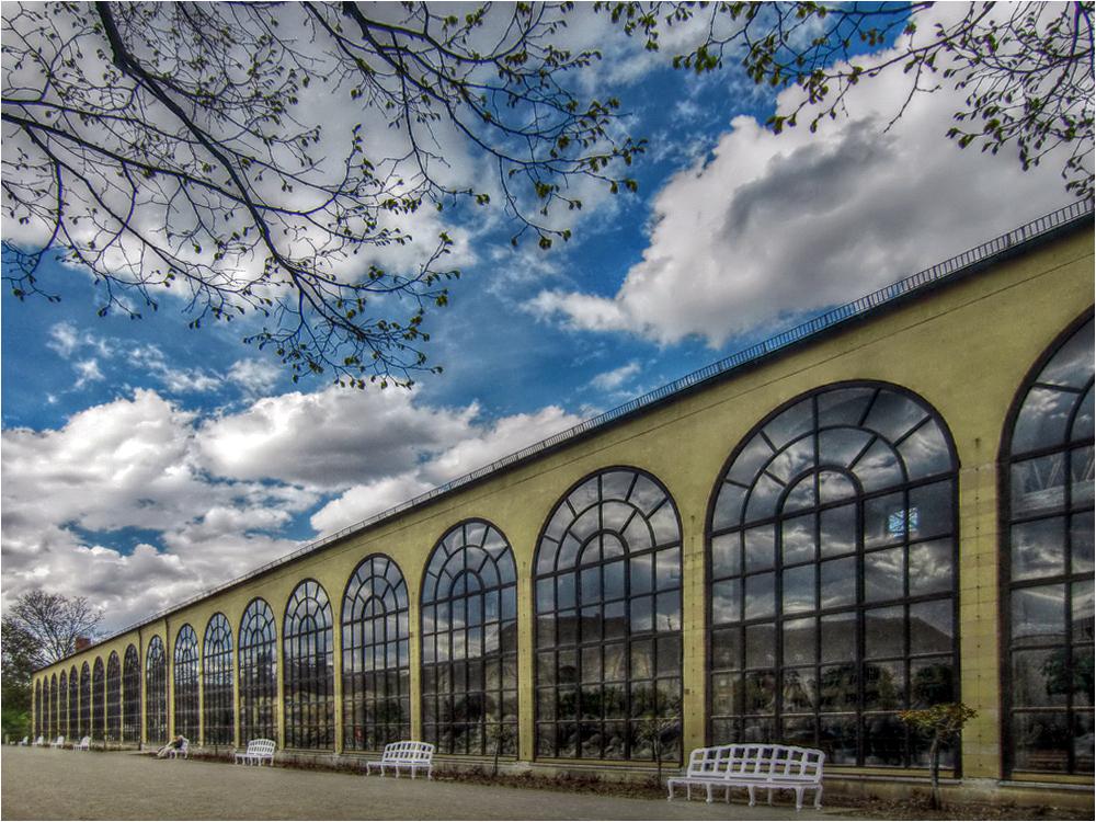 die Orangerie im Hofgarten der Residenz Würzburg