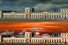 Die Orangerie in Kassel (eine Aufnahme , zwei Bilder )