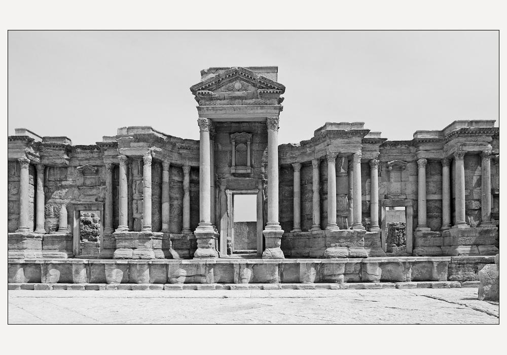 die Orchestra des Theaters von Palmyra