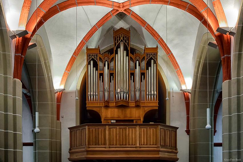 Die Orgel in der St.Remigius Kirche