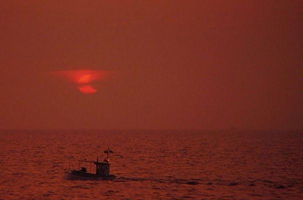 Die Ostsee, das Schiff und die Sonnenfinsternis