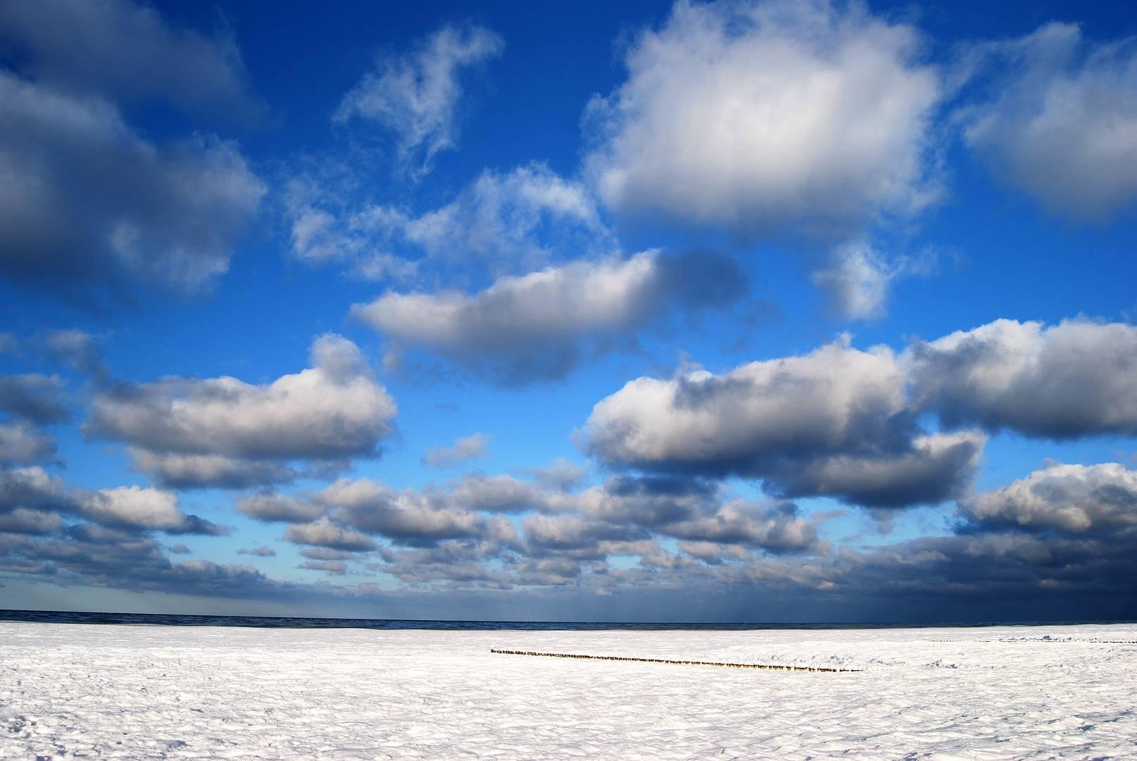 die Ostsee in Winter