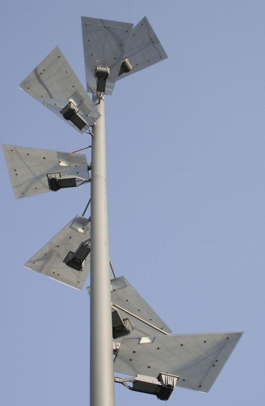 Die Parkplatzbeleuchtung beim Space-Park 2