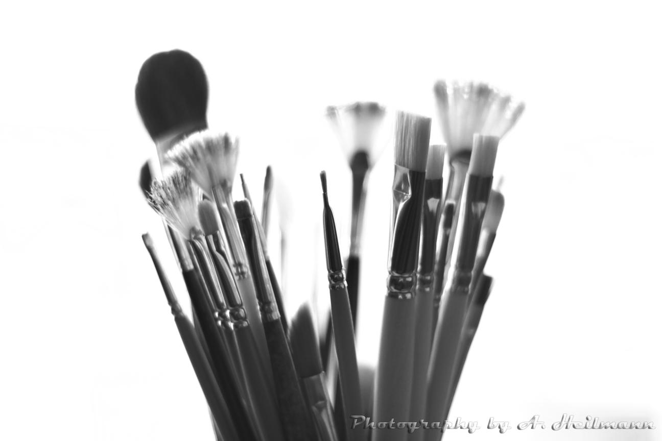 Die Pinsel der Künstlerin