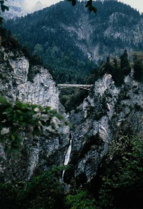 Die Pöllatschlucht mit der Marienbrücke