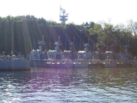 Die polnische Marine liegt im Hafen