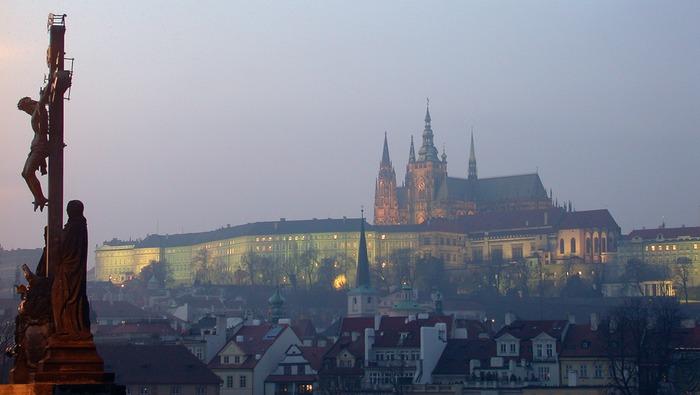 Die Prager Burg von der Karlsbrücke