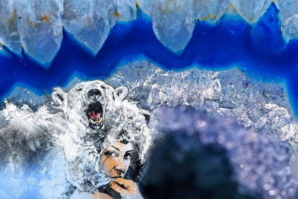Die Prinzessin des Winterlandes und der Eisbär