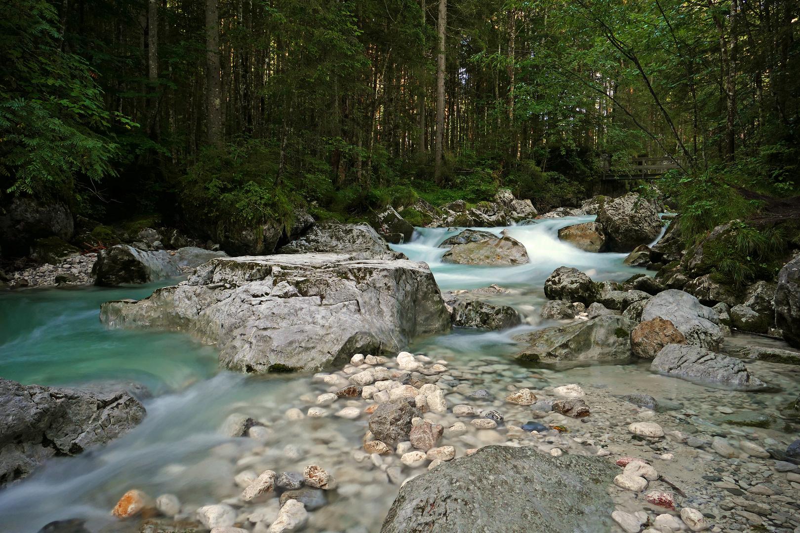 Die Ramsauer Aache im Zauberwald Berchtesgadener Land 2