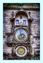 Die Rathausuhr zu Prag