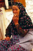 Die rauchende Frau in Istanbul