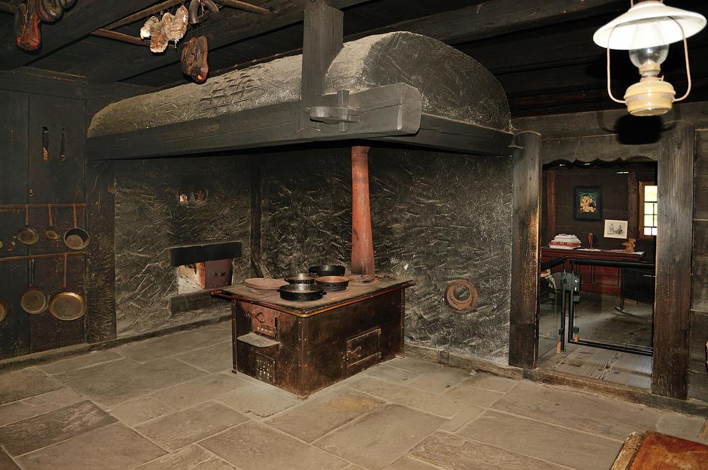 Die Rauchküche im Vogtsbauernhof aus dem Jahr 1612