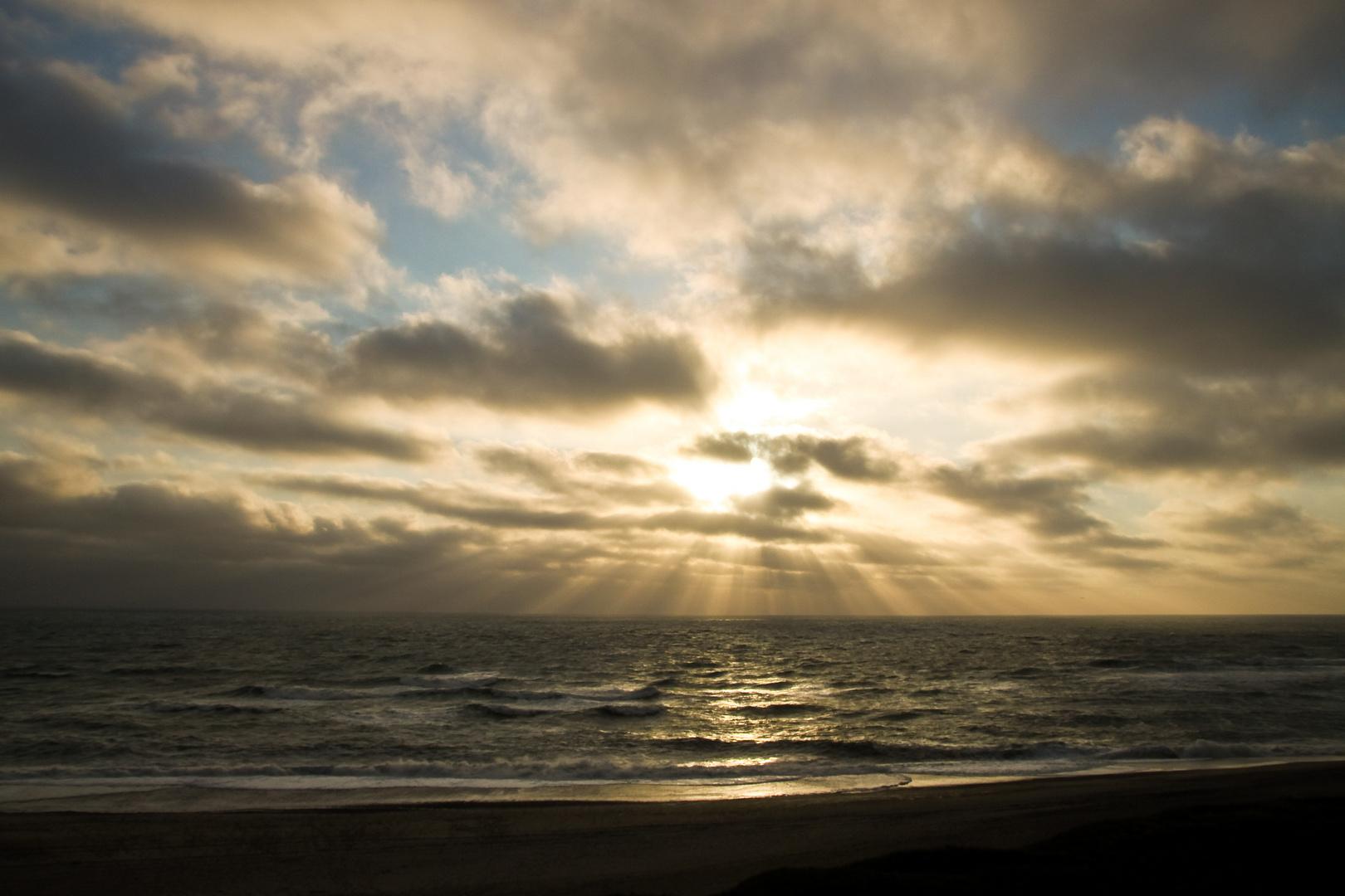 Die rauhe Nordsee .....