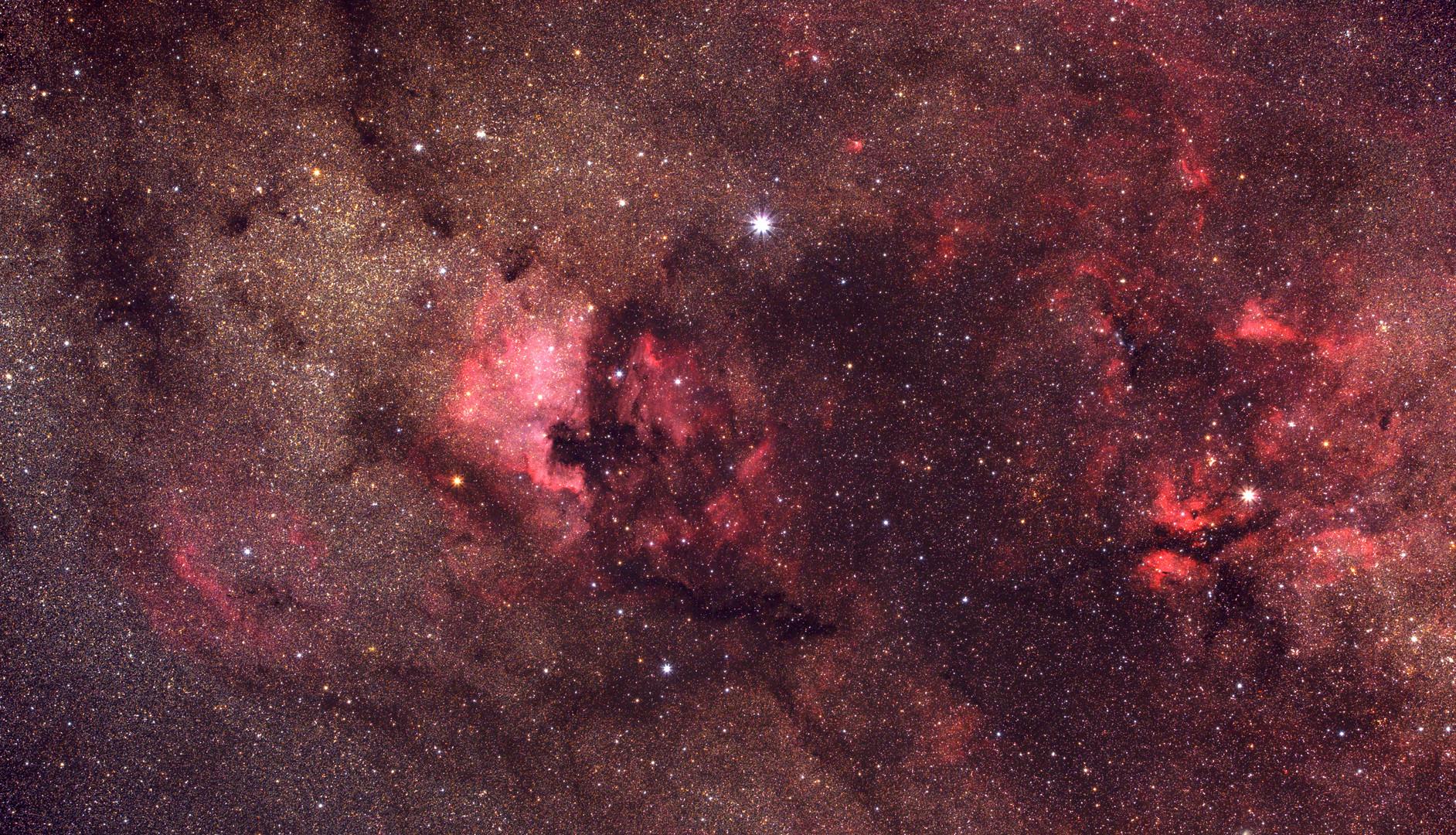 Die Region des Nordamerikanebels (NGC 7000)