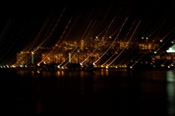 Die Region Morgan bei Nacht.